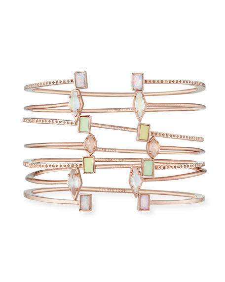 Kinsley Bracelet Set in Rose Gold Plate