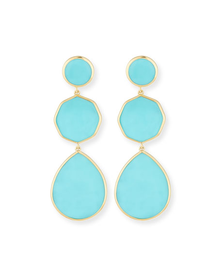 Ippolita 18k Gelato Crazy-Eight Earrings in Turquoise