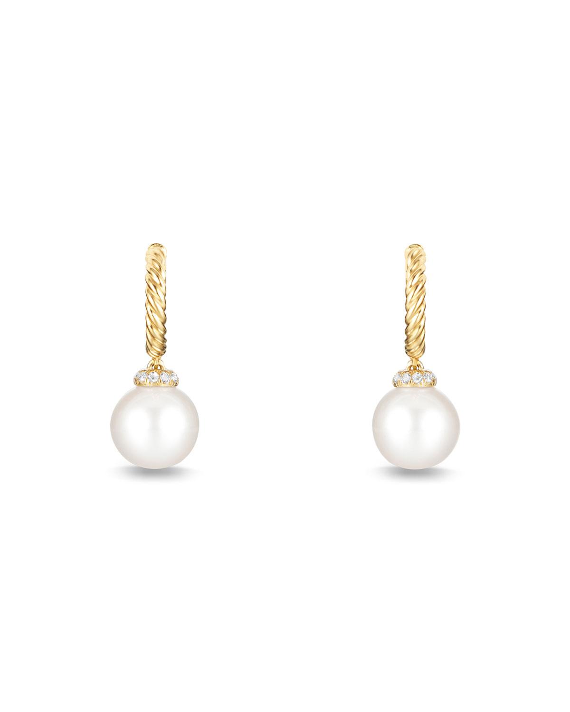 375c5956c5a4b Solari 18K Gold & Pearl Earrings with Diamonds