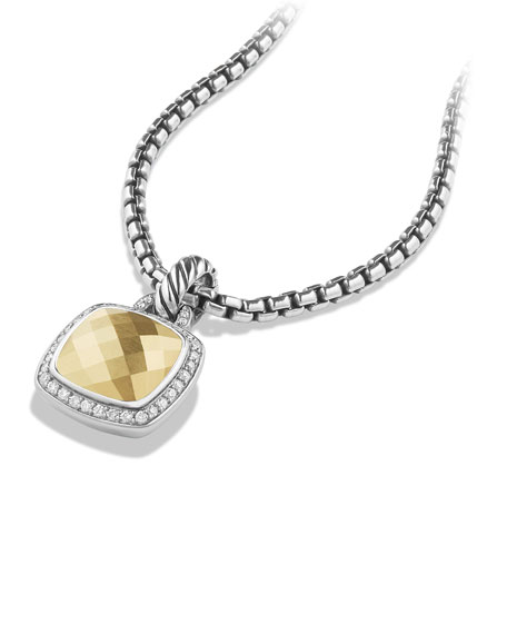 Image 3 of 4: David Yurman Albion Pendant with Diamonds and 18k Gold