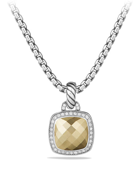 Image 1 of 4: David Yurman Albion Pendant with Diamonds and 18k Gold