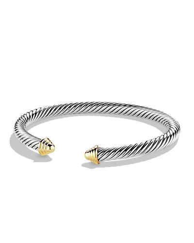 Cable Classics Bracelet with Gold  Medium