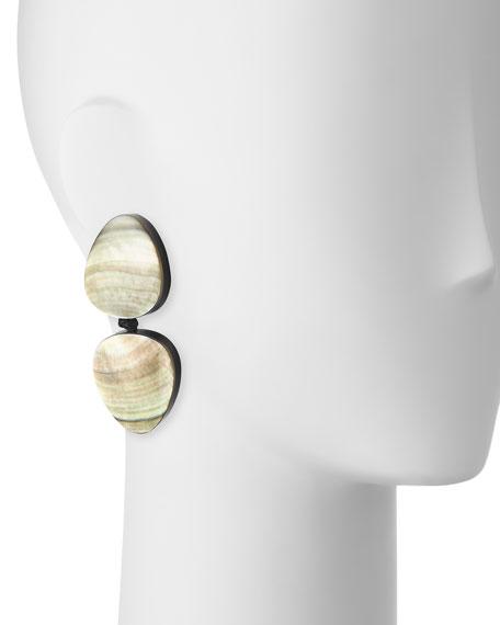Freeform Double-Drop Clip-On Earrings