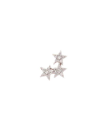 Kismet by Milka Wonder Star Stud Earring with Diamonds, Each