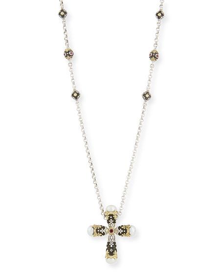 Konstantino pink tourmaline cross pendant necklace neiman marcus pink tourmaline cross pendant necklace aloadofball Gallery