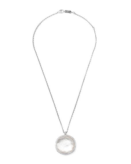 """Stella Pendant Necklace in Hematite & Diamonds 16-18"""""""
