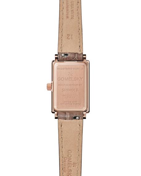 Shirley Fromer 26mm Alligator Strap Watch with Diamond Bezel
