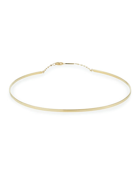 LANA Bond Thin 14K Gloss Choker Necklace