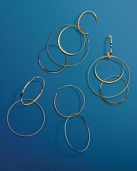 Bond Large 14K Interlocking Flat Hoop Earrings