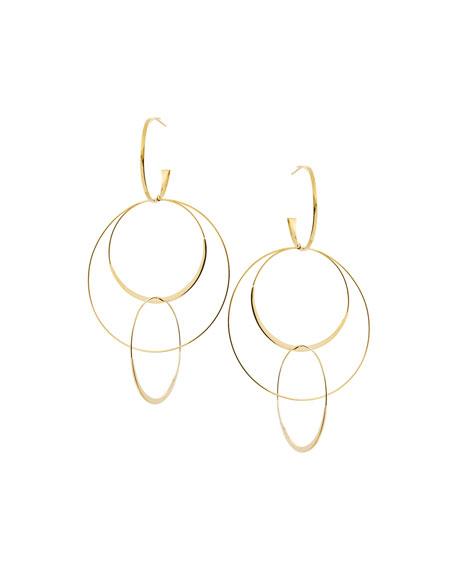 LANA Bond Large 14K Interlocking Flat Hoop Earrings