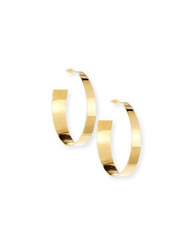 Polished Golden Hoop Earrings