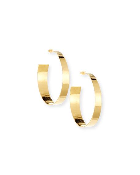 NEST Jewelry Polished Golden Hoop Earrings