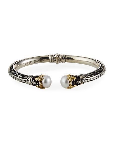 Konstantino Pearly Open Cuff Bracelet