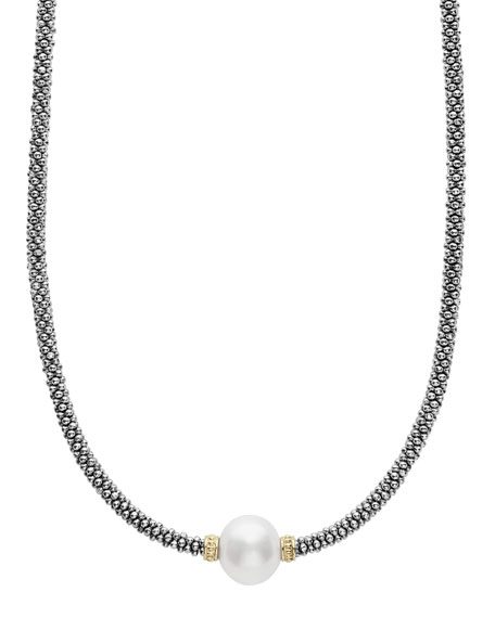 Luna Tahitian Pearl Rope Necklace, 18""