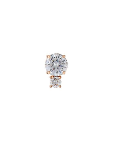 Jemma Wynne Prive Double-Diamond Post Earring in 18K
