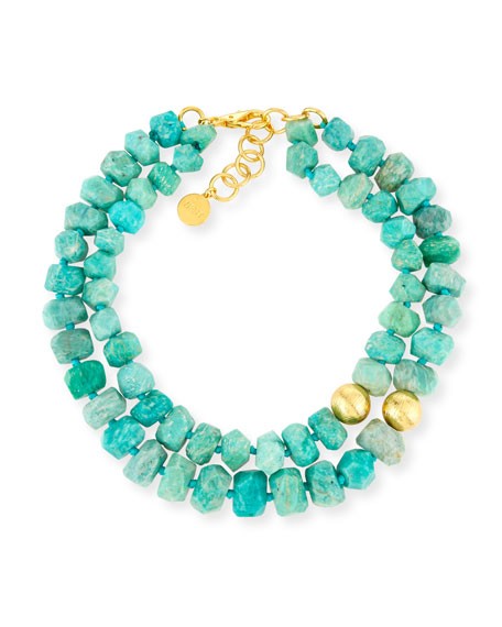 Two-Strand Amazonite Beaded Necklace
