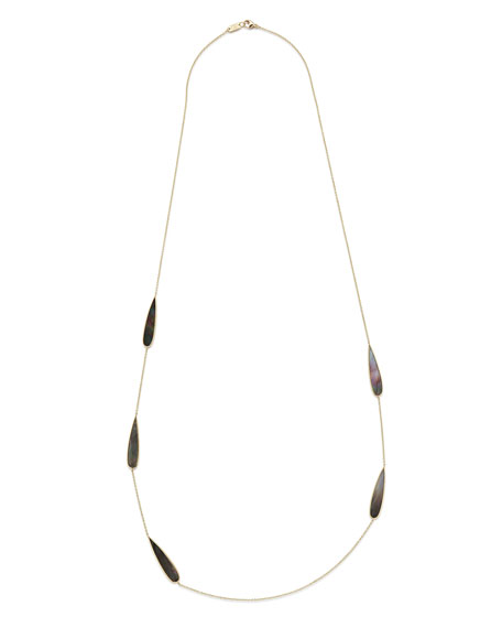 18K Polished Rock Candy Station Necklace