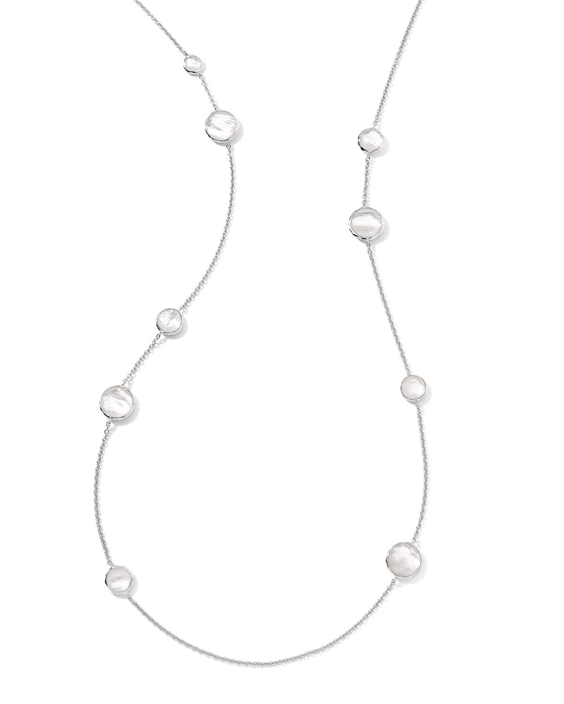 Ippolita Sterling Silver Wonderland Lollipop Station Necklace in Mother-of-Pearl, 40