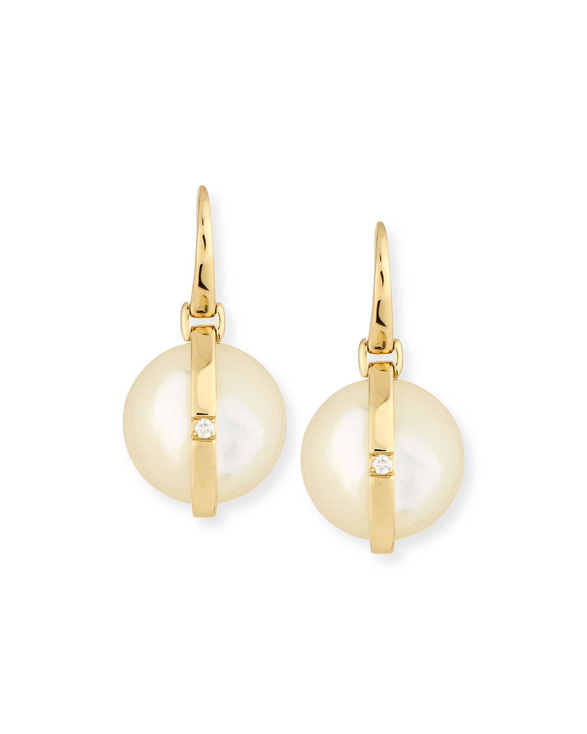 Ippolita 18K Senso Wrapped Drop Earrings in Mother-of-Pearl 9uH4E