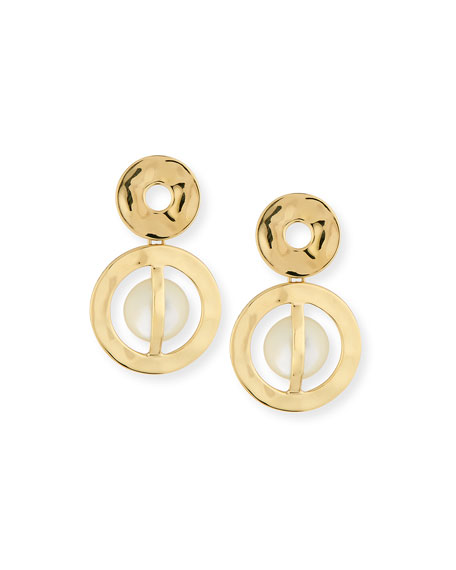 Ippolita 18K Senso Wrapped Snowman Earrings in Mother-of-Pearl