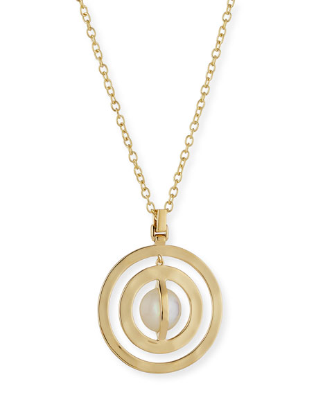 18K Senso™ Double Open Disc Necklace in Mother-of-Pearl