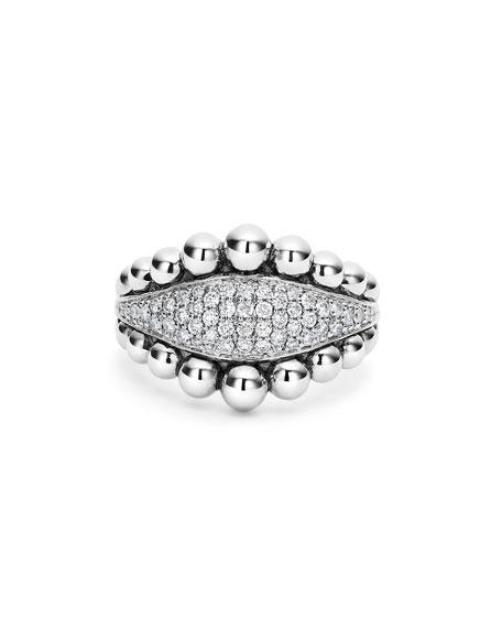 LAGOS Caviar Diamond Spark Ring, Size 7