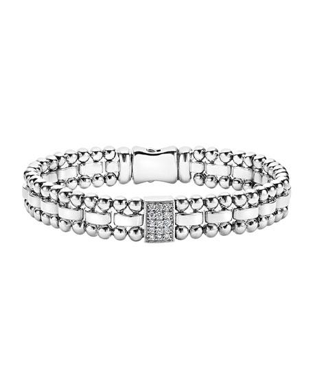 LAGOS 9mm Caviar Spark Bracelet with Diamond Station