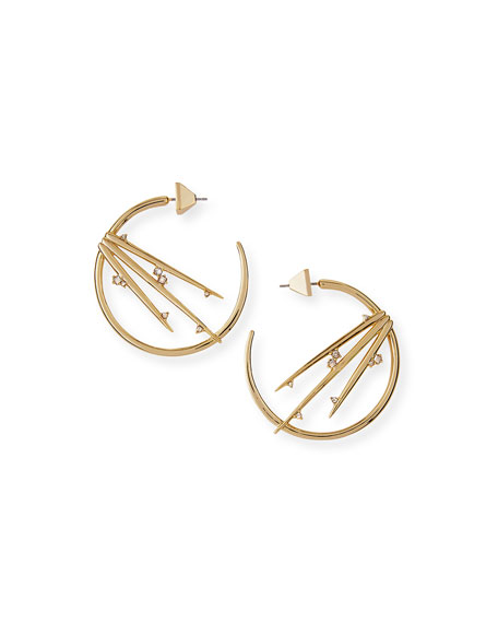 Metallic Thorn Hoop Earrings