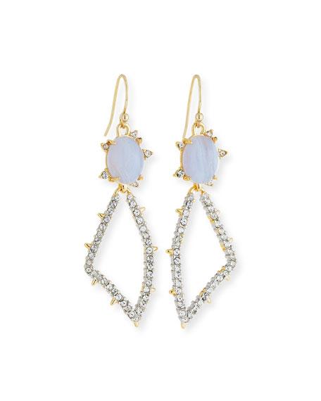 Blue Lace Agate Thorn Drop Earrings