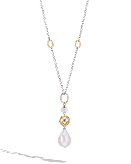 John Hardy Legends Naga Baroque Pearl Pendant Necklace
