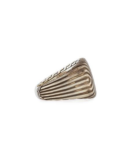 Men's Bedeg Lava Linear Triangle Ring, Size 10