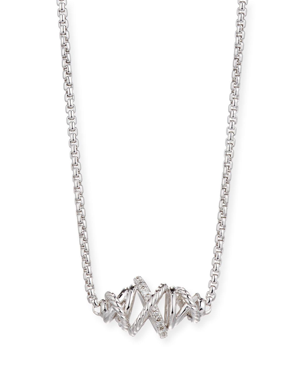 Lagos Embrace Diamond Station Necklace, 16L