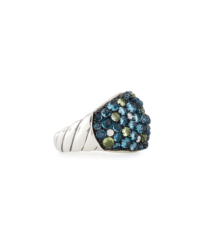 Osetra Mosaic Dome Ring with Diamonds