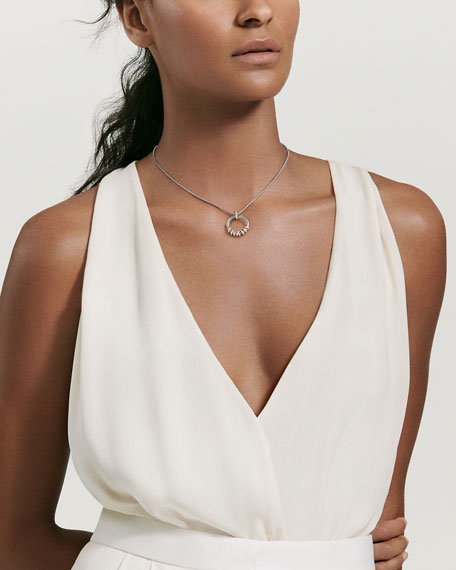 Helena Small Pendant Necklace with Diamonds