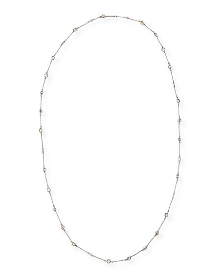 Augie Crystal Station Necklace, 40""