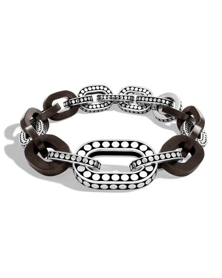 Dot Graduated Ebony Link Bracelet