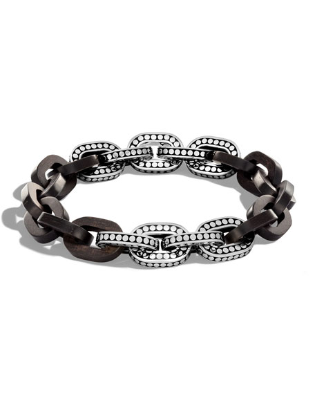 John Hardy Dot Basic Ebony Link Bracelet, 11.5mm