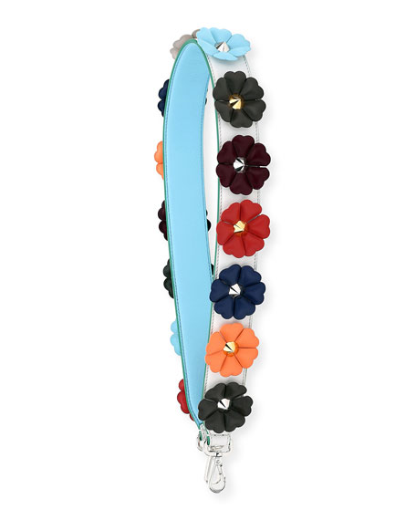 Strap You Flower Studded Shoulder Strap for Handbag, Multi