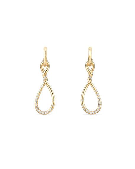 David Yurman 31.5mm Continuance Drop Earrings with Diamonds