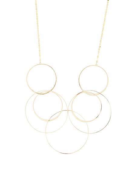 LANA Bond Long Link Necklace in 14K Yellow