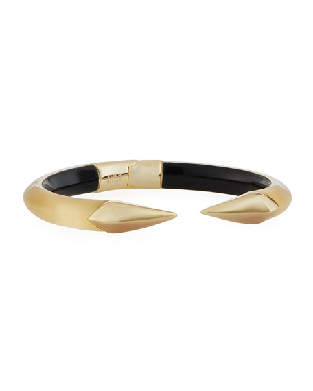 Mirror Break-Hinge Bracelet, Golden
