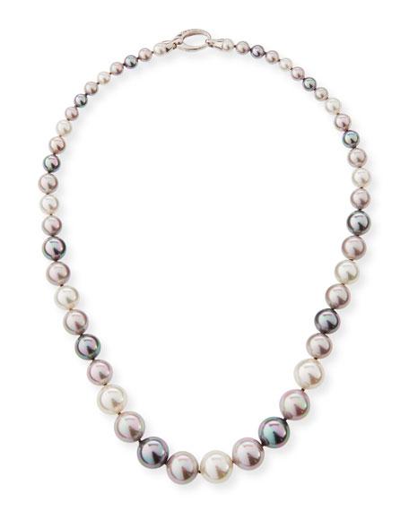 Majorica Graduated White, Gray & Nuage Pearl Necklace,