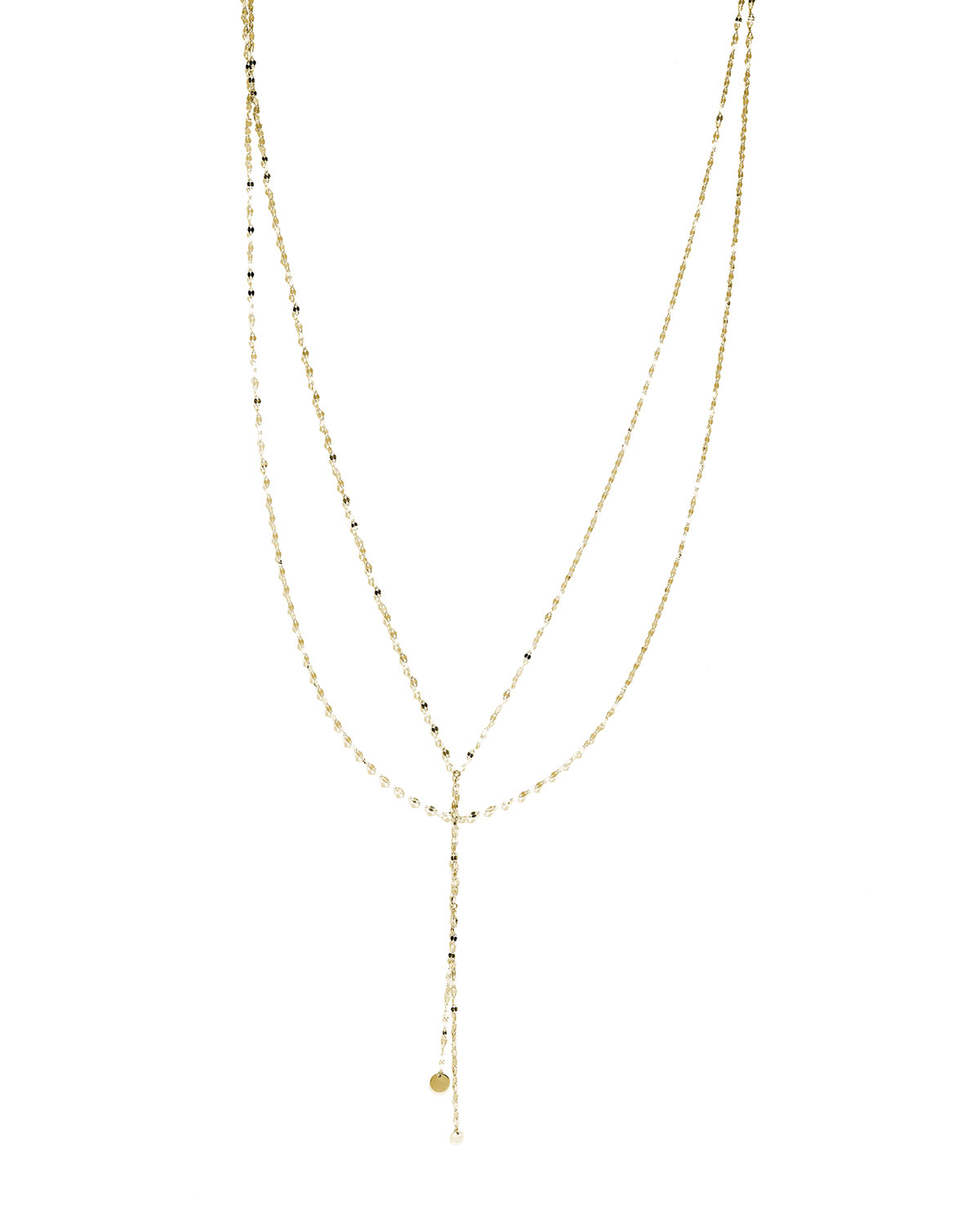 en carat flat gold bicolor necklace goldberg