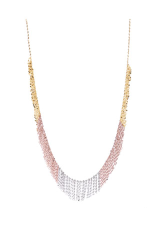 Lana Three-Tone Fringe Necklace