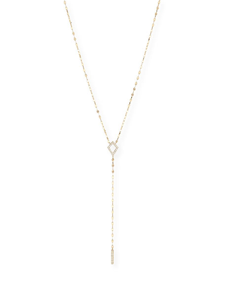 LANA Flawless Kite Lariat Necklace with Diamonds