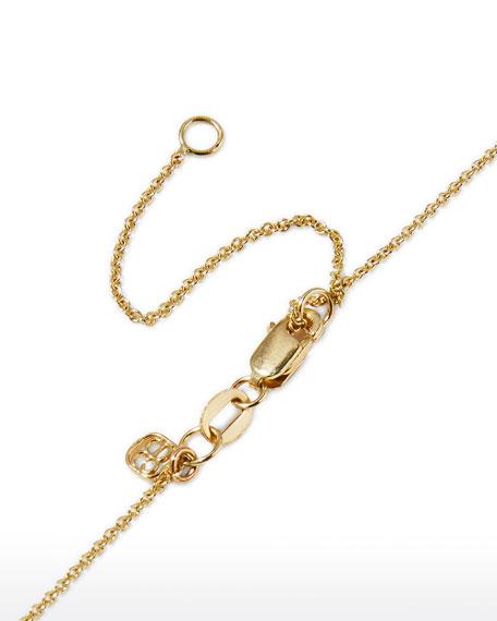 Large 14k Yellow Gold & Diamond Love Necklace