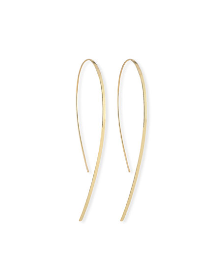 Lana Small Flat Hook-On Hoop Earrings
