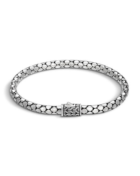 John Hardy Dot Silver 4.3mm Small Chain Bracelet,