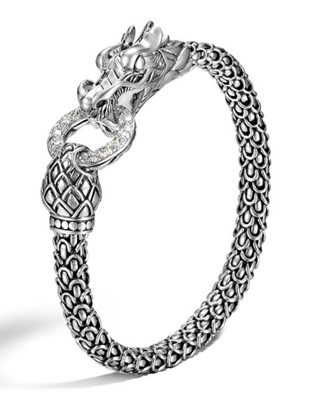 John Hardy Legends Naga Dragon Bracelet with Diamond