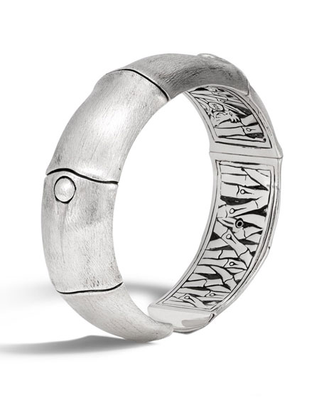 Bamboo Sterling Silver Kick Cuff Bracelet